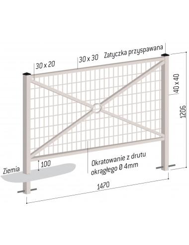 Bariera uliczna miejska 147cm