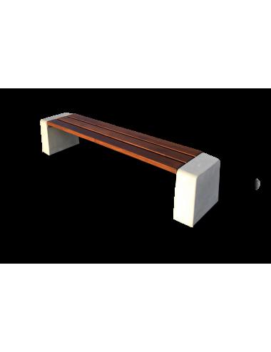 Ławka drewniana beton...