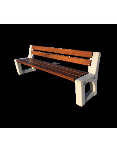 Ławka betonowa z drewnianym...