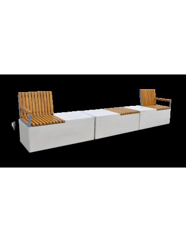 Betonowa ławka modułowa
