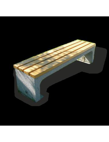 Ławka betonowa bez oparcia...