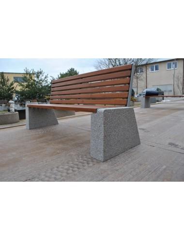 Ławka betonowa z oparciem...