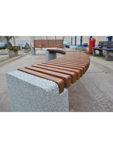 Ławka betonowa łukowa...