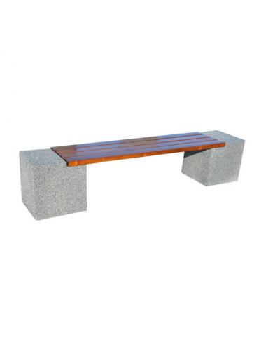 Ławka miejska betonowa bez...